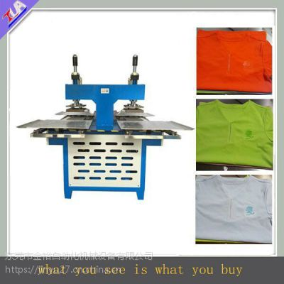 油压双头硅胶压花机-硅胶压胶机-服装植胶机厂家