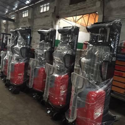 鑫力半电动叉车 1.5吨升3米仓库理货电动堆高车 半自动液压装卸叉车(进口配置))
