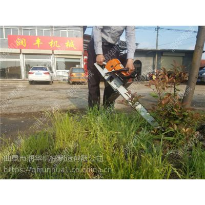 带土球树苗移栽机 园林绿化链条式挖树机 小型便携式断根机