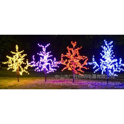 中山市广胜照明供应0.8米户外防水led仿真树灯 节日婚庆樱花灯 椰树灯 桃花灯
