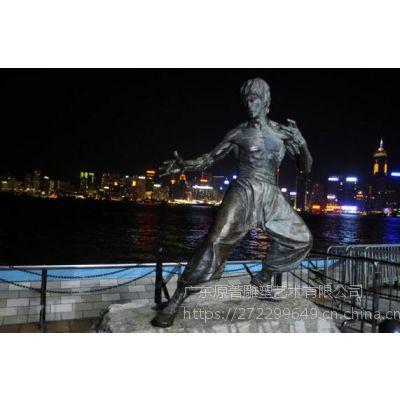 东莞雕塑设计厂家订制人物铸铜雕像李小龙城市广场主题摆件