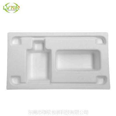 OEM专业生产纸浆模塑包装 白色湿压纸托内衬定制 纸浆内衬加工定做