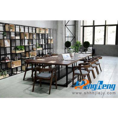 上海定制办公实木长条办公桌-WA518