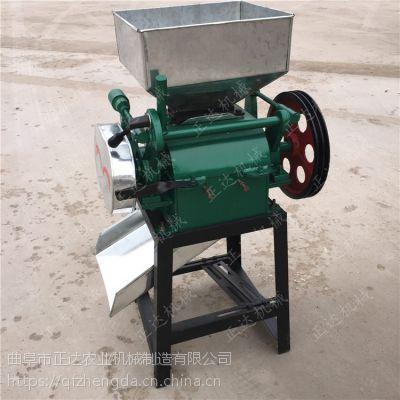 大豆挤扁机 豆扁子机 锰钢对辊压扁机