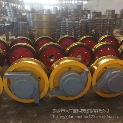 销售φ600*150双边车轮组 被动轴 铸钢材质 龙门起重机车轮组 亚重牌