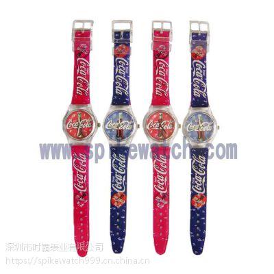 外贸货源厂家定制SPIKE促销礼品赠品swatch款广告塑胶手表