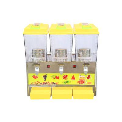 冷饮机自助饮料机商用饮料果粉制冷热全自动奶茶酸梅汤三缸果汁机
