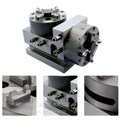 工厂直销立式五面加工卡具 精密快速定位夹具 直角座气动卡盘四爪