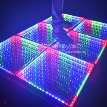 厂家直销 虹美 LED跳舞地板砖 镜面地板砖 万丈深渊地板砖 酒吧婚庆魔幻跳舞地板砖