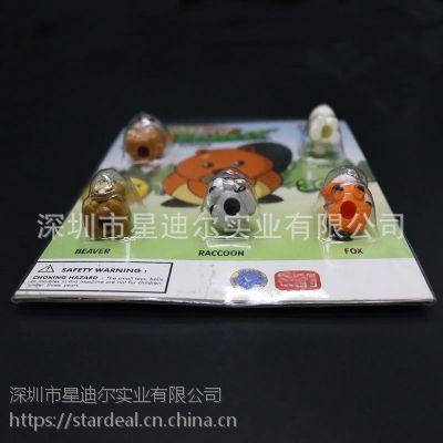 实地塑料加工厂热销定制小动物三折边PET玩具吸塑包装盒
