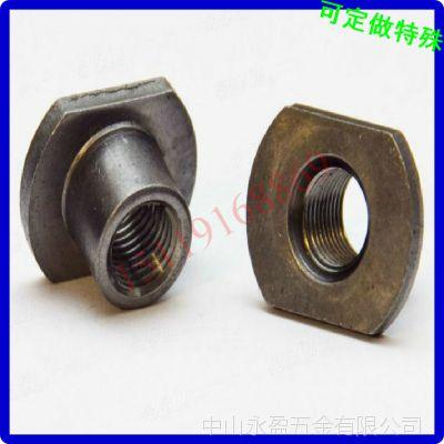 T形圆柱螺母 圆柱带垫片螺母 加工定做 佛山不锈钢螺母厂