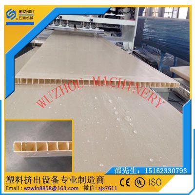 供应PVC板材设备 中空格子板生产线 橱柜板生产线