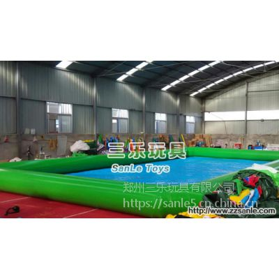 圆形充气游泳池PVC环保加厚材料