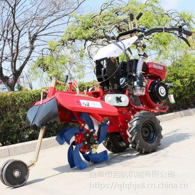 大马力犁地机 启航大葱种植培土机 9马力电打火柴油开沟机厂家直销