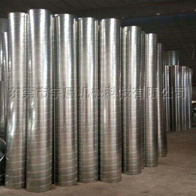 宇晨风管厂专业加工定制镀锌铁皮螺旋风管