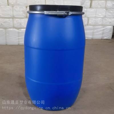 山东125L大口包箍塑料桶 全新125公斤HDPE皮革化工塑料桶