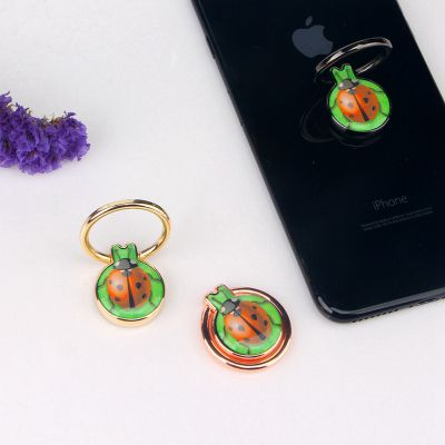 七星瓢虫指环扣 新款创意 造型手机支架 田园风手机配件礼品专用