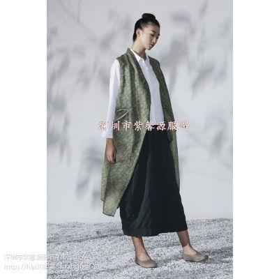 品牌折扣女装连衣裙 上衣 原创设计师必然 希色真丝简约纯色品牌专柜折扣女装货源供应