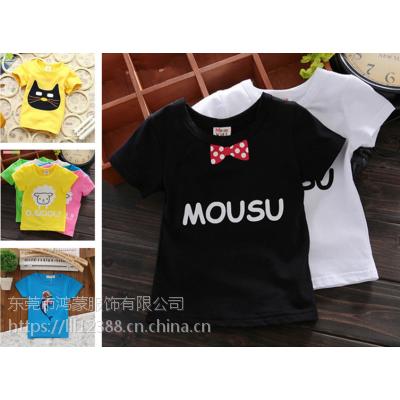 夏季外贸童装短袖儿童套装 卡通男童套装韩版童t恤尾货库存清仓