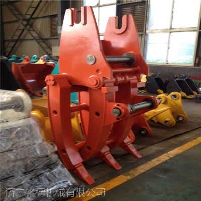 勾机厂家斗山300 批发定做 多功能液压旋转夹具 废钢圆木机械夹具