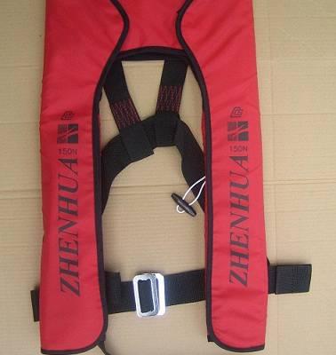 低价出售双气囊气胀式救生衣,证书齐全手动套头式充气救生衣