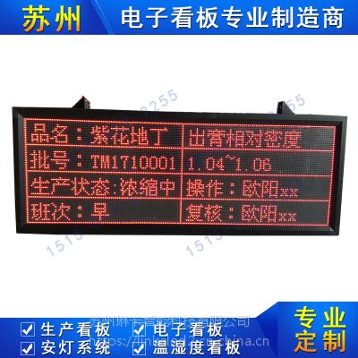 工厂车间生产管理看板智能电子看板悬挂式流水线LED点阵显示屏