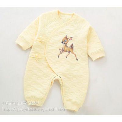 2018婴儿服装纯棉连体衣爬爬服长袖连身衣宝宝婴幼儿哈衣外贸批发新生儿衣服