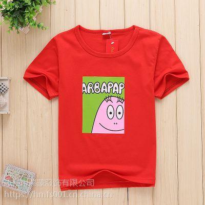 韩版 便宜小衫小猪佩奇男童女童装儿童t恤短袖中大童2018夏装新款男孩打底恤衫