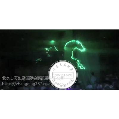 大型活动开场启动仪式激光飞鹰秀3d启动道具租赁热门视频秀定制