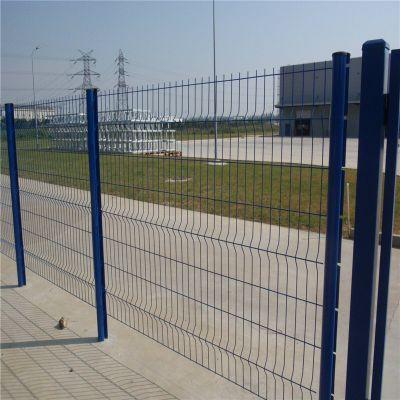 三角折弯护栏网 Y型柱防御栏 建筑铁丝网厂