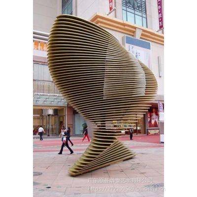 金属艺术不锈钢雕塑厂家东莞雕塑设计公司定制商场广场小品摆件