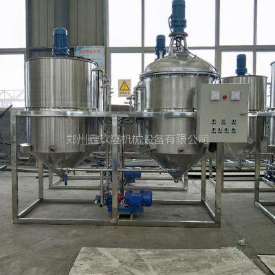 厂家直供 新型 菜籽油精炼设备 鑫玖隆小型 两罐食用油精炼设备