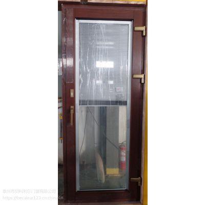 泰州市贝科利尔98磁控升降百叶铝包木内开门