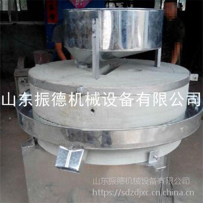 荞麦电动石磨 新型五谷杂粮石磨机 振德 小麦面粉磨面机 价格