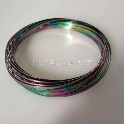 金华不锈钢魔术手环电镀、品质优幻彩真空电镀、性价比高五彩PVD真空镀膜加工、交期短、艺延实业