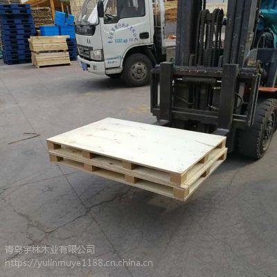 木栈板轻质免熏蒸胶合板托盘 载重2吨木托