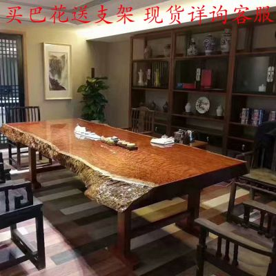 巴花大板桌 实木大班台红木老板办公桌餐桌茶桌定制批发 福建厂家哪家好 直销货源地
