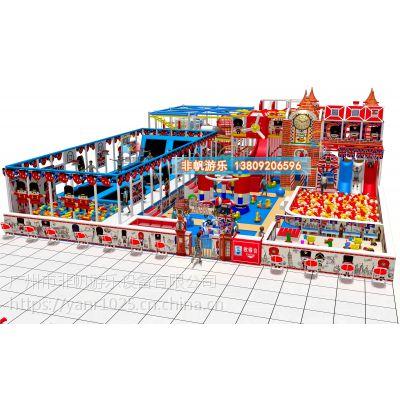 【非帆游乐】新儿童乐园淘气堡 室内游乐场设备多少钱一平米淘气堡投资慨要分析