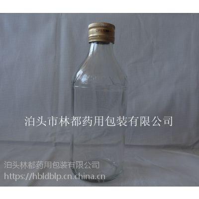 河北林都供应250ml透明口服液玻璃瓶