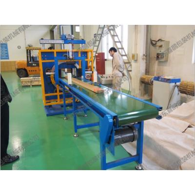 河北型材薄膜缠绕包装机 适合各种型材 门板提高包装效率的专业包装设备 喜鹊包装机械