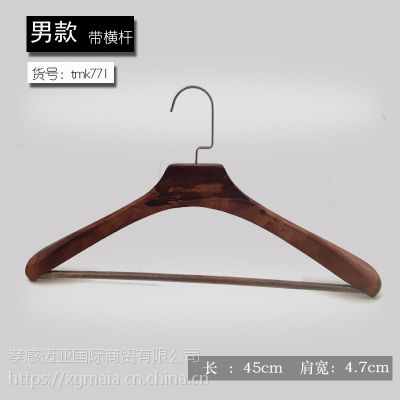 服装店木衣架 实木衣架 手擦色女装衣架 厂家直销女装衣架支持定