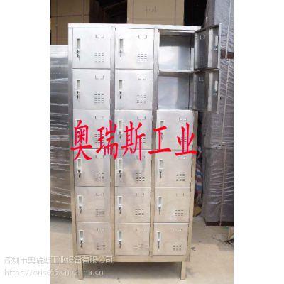 热销定制员工不锈钢储物柜 不锈钢鞋柜手机柜