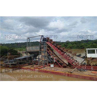 淘金船图片 科大淘金设备 小型采金机械价格