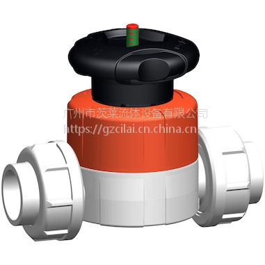 瑞士+GF+ PVDF 手动隔膜阀 专业销售代理 广州茨莱