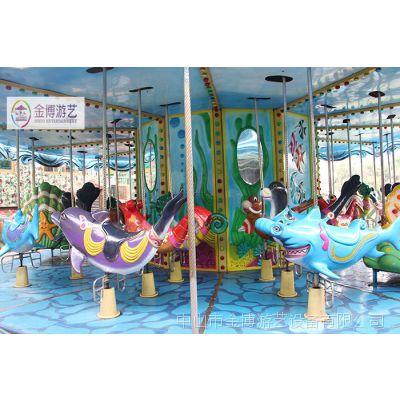 热销游乐设备12人旋转木马 游乐场游乐设施 游乐园游乐设备转马