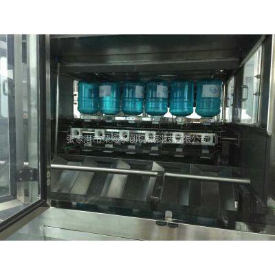 荣海永创新品:QGF900桶每小时桶装水生产线灌装三合一封闭式清洗