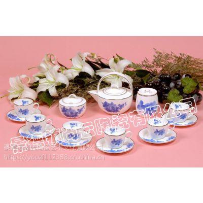 供应精品手绘陶瓷茶具