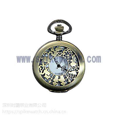 SPIKE优质手表工厂供应高档复古纪念礼品怀表可按要求定制
