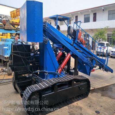 工程护坡钻机履带式护坡桩机施工视频