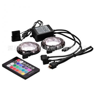 雅祺LED控制器电脑机箱灯带套装黑板 电脑风扇RGB控制器七彩音乐灯带